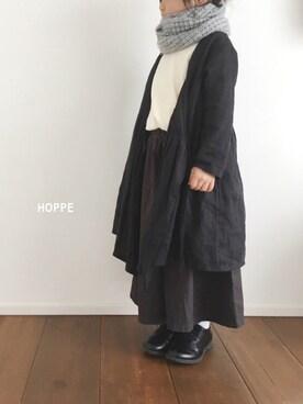 hoppeさんの「オーバーダイワイドパンツ(100~120cm)(A BOND|アボンド)」を使ったコーディネート