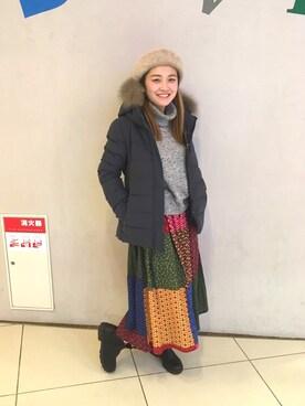 BEAVER大阪店|リナリナ~さんの「DUVETICA/デュベティカ AILSA/アイルサ(DUVETICA)」を使ったコーディネート