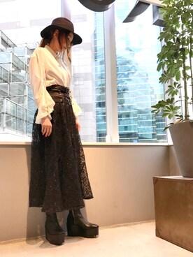 ROYAL FLASH 池袋 kazuyo さんの「Flare Sleeve Blouse(styling/)」を使ったコーディネート