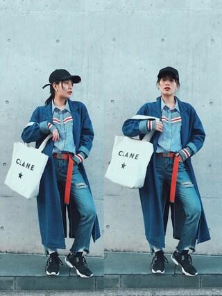 「CONVERSE TOKYO × CLANE/コンバース×クラネ/キャンバストートバッグ(CONVERSE TOKYO)」 using this TAE looks