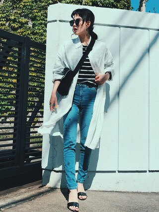 「【Parfum de Charmant Fluer】big long dolman shirts/ビッグロングドルマンシャツコート/シャコート(Parfum de Charmant Fleur)」 using this TAE looks