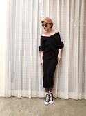 ga625さんの「WOMEN メリノブレンドリブスカート(ユニクロ|ユニクロ)」を使ったコーディネート
