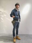 AVIREX 新潟|Yukiさんの「avirex/ アヴィレックス /TYPE BLUE STRETCH DENIM 7 POCKET PANTS/ タイプブルー ストレッチデニム 7ポケット パンツ(TYPE BLUE|タイプブルー)」を使ったコーディネート