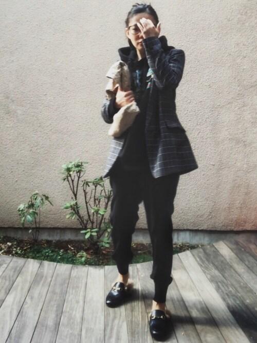 HAL さんの「Gucci - Princetown ミュール - men - レザー/Lama Fur - 8(Gucci)」を使ったコーディネート