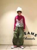 ナカヨシ サキさんの「BEAMS BOY / ウールミックス タートル(BEAMS BOY|ビームスボーイ)」を使ったコーディネート