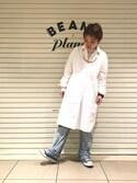 ナカヨシ サキさんの「BEAMS BOY / ワッフル クレイジー クルー(BEAMS BOY|ビームスボーイ)」を使ったコーディネート