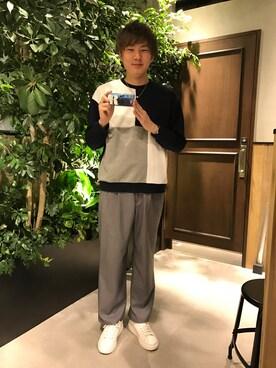RAGEBLUE ヨドバシAkiba|石村さんの「TWベルト付きワイドパンツ/744129(RAGEBLUE|レイジブルー)」を使ったコーディネート
