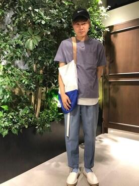 RAGEBLUE名古屋パルコ店|石村さんのネックレス「チャームネックレスFW/570372(RAGEBLUE|レイジブルー)」を使ったコーディネート