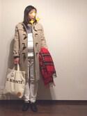 meg☺︎さんの「WOMEN エクストラファインメリノクルーネックセーター(長袖)+(ユニクロ|ユニクロ)」を使ったコーディネート