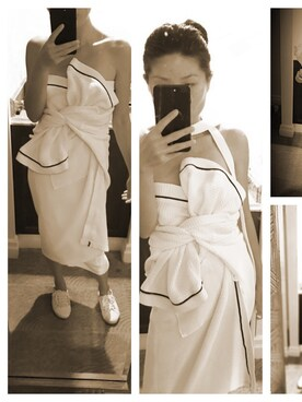 (hotel robe) using this Mindy  Zou looks
