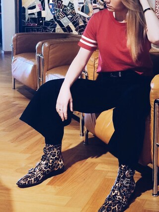 「Givenchy - Studded Ankle Boots In Leopard-print Leather - Leopard print(Givenchy)」 using this Haley looks