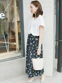 Sallyさんの「《追加予約》小花柄巻きスカート◆(SLOBE IENA|スローブイエナ)」を使ったコーディネート
