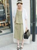 Sallyさんの「ロングシャツカーディガン◆(SLOBE IENA|スローブイエナ)」を使ったコーディネート