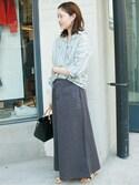 Sallyさんの「バイオ加工マキシスカート◆(SLOBE IENA|スローブイエナ)」を使ったコーディネート