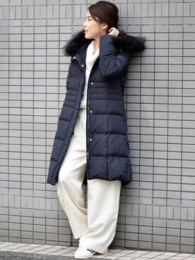Spick & Span たまプラーザ店 Mizuki*さんの「フードAラインダウンコート◆(Spick & Span)」を使ったコーディネート