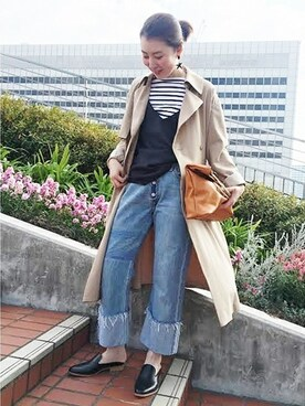 journal standard luxe 渋谷店|Mさんのトレンチコート「ライトドライギャバトロンチ#(JOURNAL STANDARD|ジャーナルスタンダード)」を使ったコーディネート