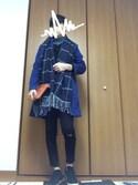 籠屋さんの「MEN エクストラファインメリノVネックセーター(長袖)(ユニクロ|ユニクロ)」を使ったコーディネート