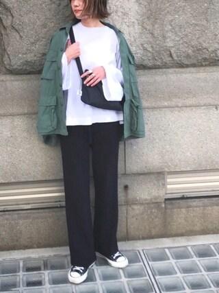あさひさんの「【ROTHCO/ロスコ】BDU SHIETS H.WASH:ミリタリーシャツジャケット#(JOURNAL STANDARD relume WOMEN|ジャーナルスタンダード レリューム)」を使ったコーディネート