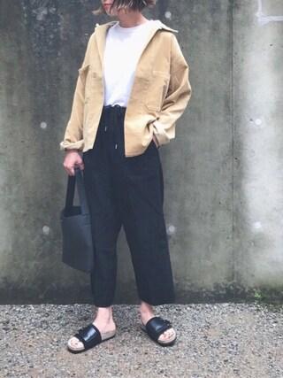 あさひさんの「AURALEE WASHED コーデュロイシャツジャケット◆(IENA|イエナ)」を使ったコーディネート
