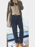ふゆさんの「MEN エクストラファインメリノVネックセーター(長袖)(ユニクロ|ユニクロ)」を使ったコーディネート