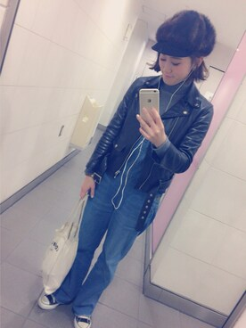 「【beautiful people】ライダースジャケット vintage leather riders jacket <16SS新入荷>(Bshop)」 using this asami looks