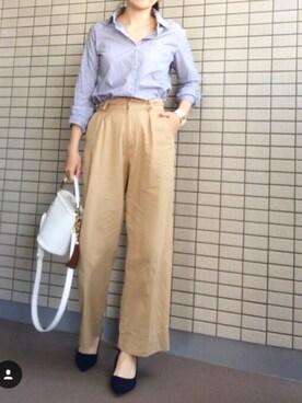 koumeさんの「ワイドパンツ(Te chichi)」を使ったコーディネート