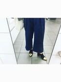 azuさんの「【SHOES】メタルミドルブーツ(MURUA|ムルーア)」を使ったコーディネート