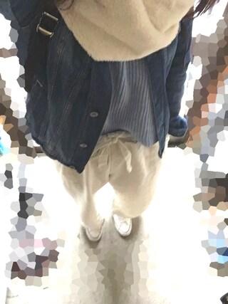 しほさんの「CLリボンワイドパンツ【niko and ...】(niko and...|ニコアンド)」を使ったコーディネート