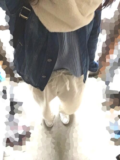 しほさんの「CLリボンワイドパンツ【niko and ...】(niko and...)」を使ったコーディネート