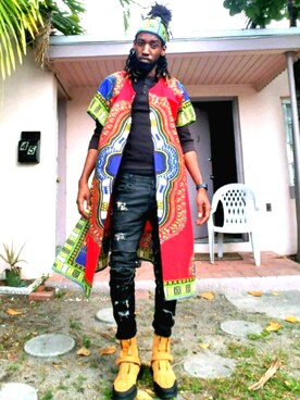 (Dashiki Head Wrap) using this Roberto Cortez looks