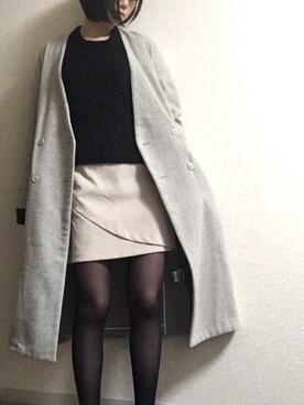 TANIさんの「【mystic】ムジフロント重ね台形スカート(mystic|ミスティック)」を使ったコーディネート