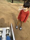 yura_oxoさんの「BOYS コーデュロイイージーパンツ(ユニクロ ユニクロ)」を使ったコーディネート