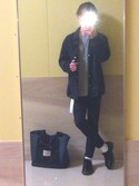 ユートさんの「WOMEN エクストラファインメリノクルーネックセーター(長袖)+(ユニクロ|ユニクロ)」を使ったコーディネート