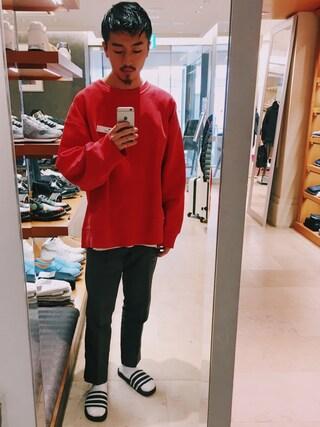 ユナイテッドアローズ 札幌店|Satoru Tsushimaさんの「【adidas】MENS ADILETTE アディレッタ(adidas|アディダス)」を使ったコーディネート