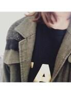 saU*さんの「【FACETASM/ファセッタズム】プリントFACE Tシャツ(FACETASM|ファセッタズム)」を使ったコーディネート