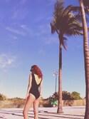 「Marysia Palm Springs Scalloped One-Piece Swimsuit, Black(Marysia Swim)」 using this Emily looks