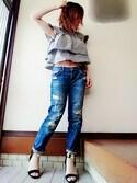 *心愛*ココ is wearing ZARA