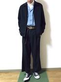 りょりょさんの「ストレッチウェザーコーチジャケット(SENSE OF PLACE by URBAN RESEARCH|センス オブ プレイス バイ アーバンリサーチ)」を使ったコーディネート