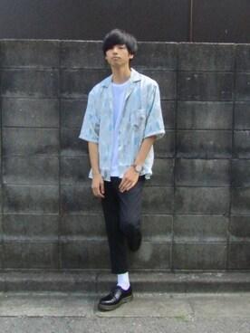 RYO.さんの「アートガラカイキンシャツ(HARE)(HARE|ハレ)」を使ったコーディネート