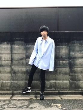 RYO.さんの「iSKOハイストレッチスキニー(LIDnM リドム)」を使ったコーディネート