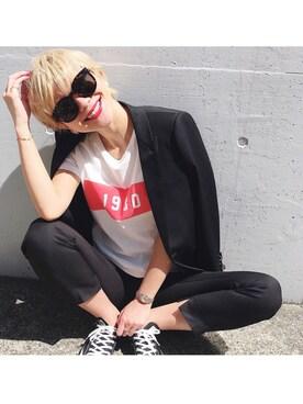 LIFE's代官山店|橋本江莉果さんの「1980 Tシャツ(TODAYFUL)」を使ったコーディネート