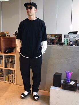 Revelations/|tado_billさんの「YASHIKI Iromuji Knit(Revelations/|レベレーションズ)」を使ったコーディネート