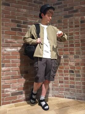 RAGEBLUE名古屋パルコ店|黒田【RAGEBLUE】さんのTシャツ/カットソー「ボタニカルプリントTシャツ/749060(RAGEBLUE|レイジブルー)」を使ったコーディネート