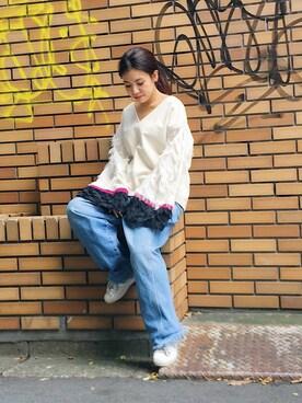 STUDIOUS EC事業部|ayanoさんの「ファブリックミックスワイドスリーブプルオーバー(CITY)」を使ったコーディネート