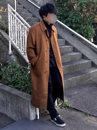 [Hirotaka]さんの「【JOHN LAWRENCE SULLIVAN】 タートルネックカットソー(JOHN LAWRENCE SULLIVAN|ジョン ローレンス サリバン)」を使ったコーディネート
