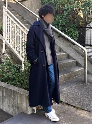 [Hirotaka]さんの「味のある加工が魅力のデニムパンツ(COMME CA ISM|コムサイズム)」を使ったコーディネート