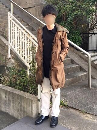 [Hirotaka]さんの「501(2013 モデル)/レギュラーストレート/ホワイトデニム/CONE MILLS 13oz(Levi's|リーバイス)」を使ったコーディネート