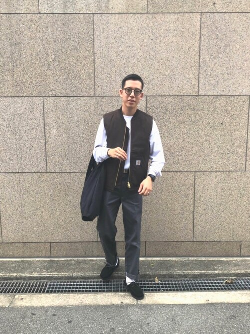 12420b4e4b Ryutaro.│Carhartt WIP Vest Looks - WEAR