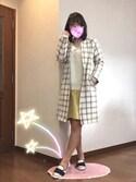 ピーチちゃん🍑さんの「ベーシックITEMこそ美しく♪ Vネック ☆ドロップショルダーシンプルゆるニットトップス/セーター/レディース/神戸レタス[N701](KOBE LETTUCE|KOBE LETTUCE)」を使ったコーディネート