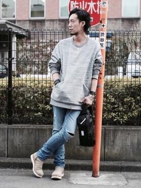 JAM HOME MADE OFFICE|Fumihito Sekineさんのボディバッグ/ウエストポーチ「nonmetal ワンショルダーボディバッグ(JAM HOME MADE|ジャムホームメイド)」を使ったコーディネート
